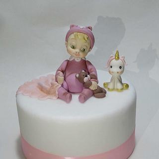 Newborn cake topper