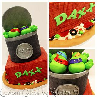 Ninja Turtles - Cake by Kendra