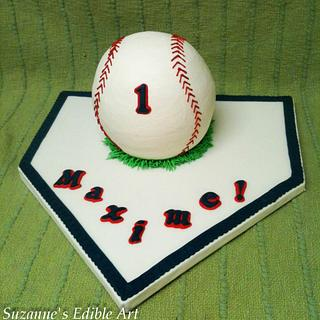 Baseball Smash Cake