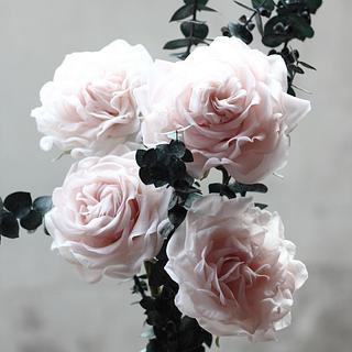 RICE PASTE GIANT ROSES