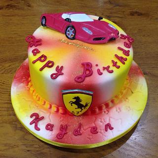 Ferrari cake - Cake by Rachel Bosley