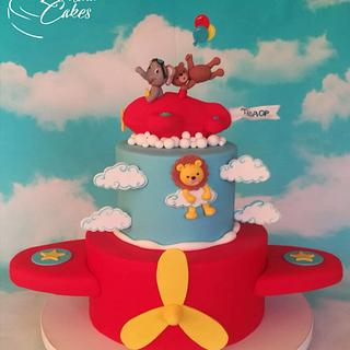 Airplane animal cake