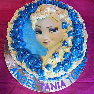 Elsa  frozen theme cake
