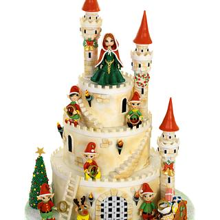 Christmas Castle. Five Gold Rings.