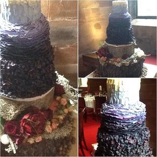 Tickety Boo - Textured Ombré Rustic Wedding Cake