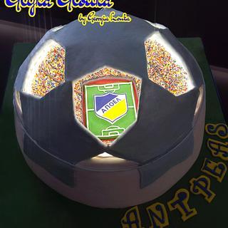 Highlighted UEFA's stadium cake