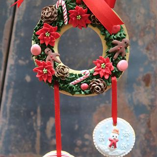Christmas Wreath ginger bread