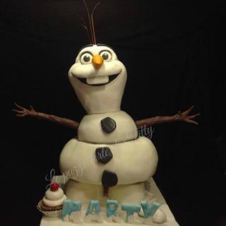 Olaf cake 3D ( Frozen ) - Cake by Titty