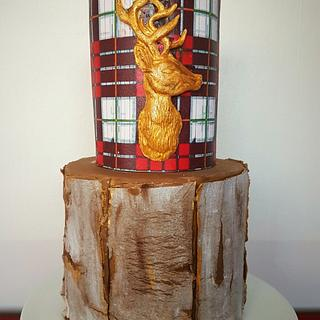 The Golden Monarch  - Cake by Dawn Wells