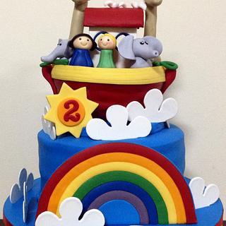2nd Birthday Noah's Ark Cake
