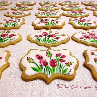 Painted cookies for the Mother's Day