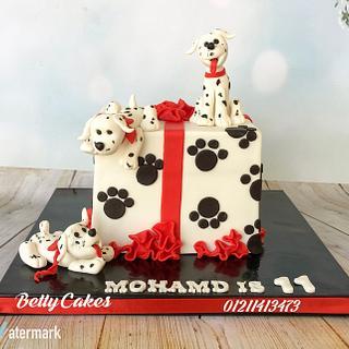 Dalmatian puppies cake