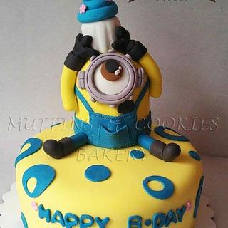 Minion Cake - Cake by Muffins & Cookies Bakery