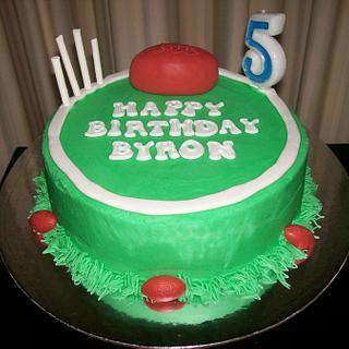 Footy Themed Cake