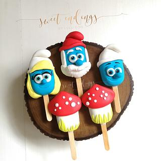 Smurfs Cakesicles by Lulu - Cake by Lulu Goh