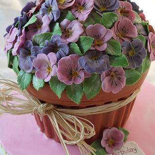 Giant Cupcake Violet Plant Pot