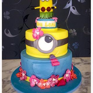 Minion Birthday Cake for girls