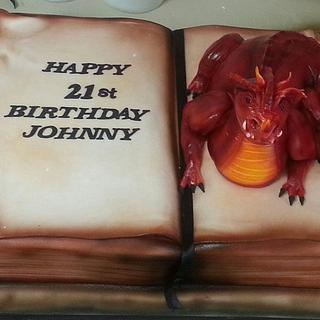 dragon book - Cake by jodie baker