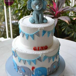 Elephants & Bunting 1st Birthday