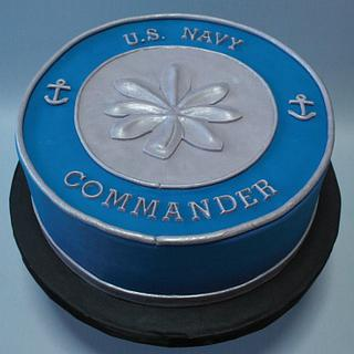 Navy Commander  - Cake by Anchored in Cake