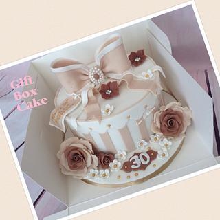 30th Birthday Gift Box Cake