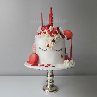 Valentine's Unicorn cake