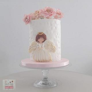 Bolo Batismo - Baptism Cake (Angel) - Cake by Unique Cake's Boutique