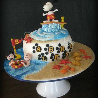 Snoopy cake! - Cake by Rose D' Alba cake designer