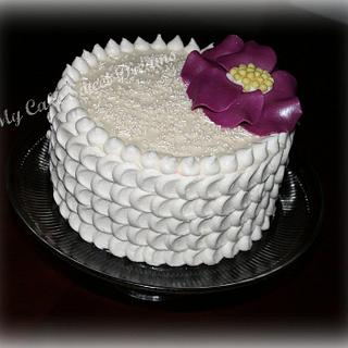 Petal Effect Cake  - Cake by My Cake Sweet Dreams