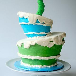Seuss style smash cake - Cake by Rachel Skvaril
