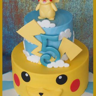 Pikachu Pokemon Cake