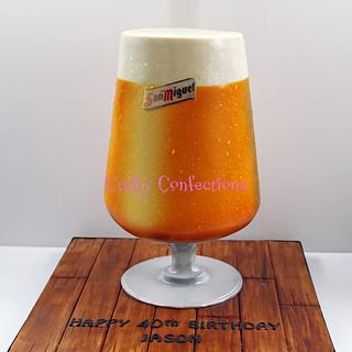 San Miguel beer glass cake