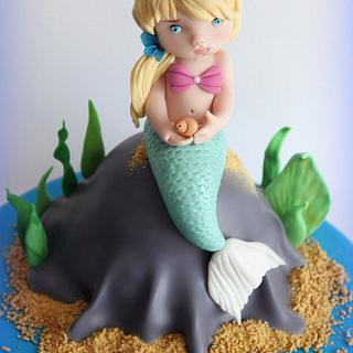 LITTLE MERMAID - CAKE TOPPER