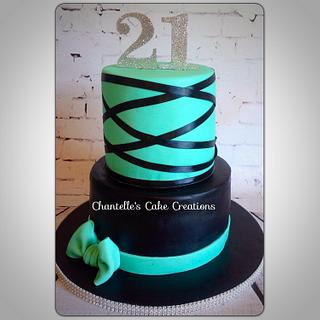 21st birthday  - Cake by Chantelle's Cake Creations