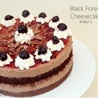 Black Forest Wedding Cheesecake