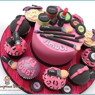 Big Cake Little Cakes : MAC Make Up - Cake by Scrumptious Buns
