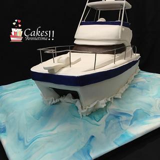 Catamaran/Speed Boat - Cake by CakesAnnietime