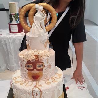 Salvador Dali & Gala Wedding Cake