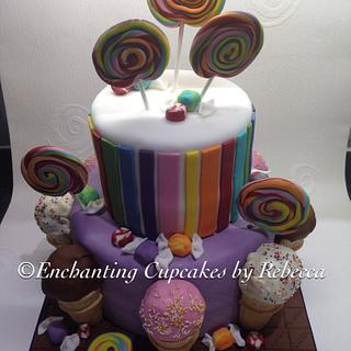 Candyland cake - Cake by Enchanting Cupcakes hobby cakes