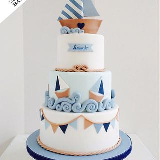 Nautical style cake