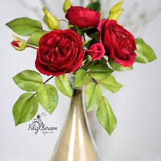 Sugar David Austin Rose Bouquet