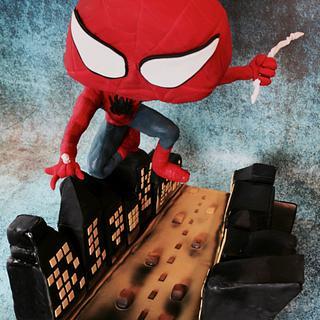 Flying Spiderman Cake - Gravity Defying