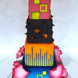 x Summer in the City Wedding Cake x - Cake by Sugar Chic