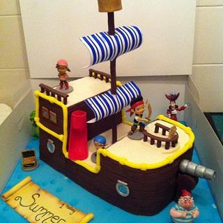 Jake and the Neverland Pirates Cake  - Cake by KaysCakesBristol