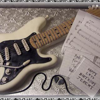 Jeremy's guitar birthday cake