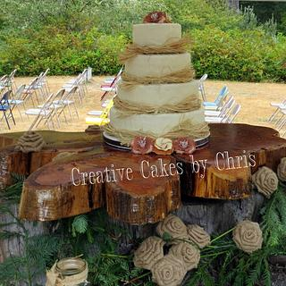 Rustic Wedding - Cake by Creative Cakes by Chris