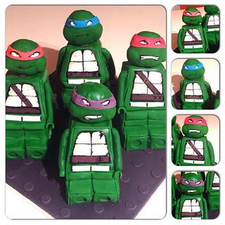 TMNT Lego cake