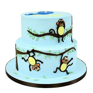 Monkeying Around - Cake by Berliosca Cake Boutique