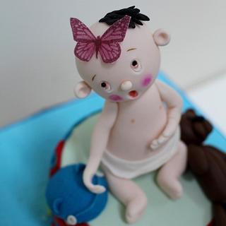 Baby Boys - Baby Shower cake