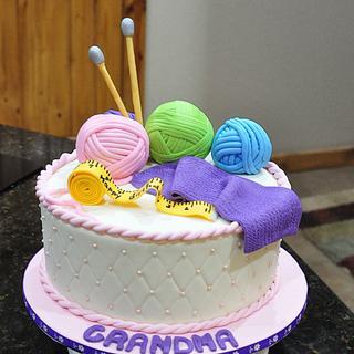 Grandma's Knitting Cake